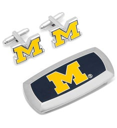 Michigan Wolverines Cufflinks  Cushion Money Clip