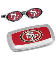 San Francisco 49ers Cufflinks  Money Clip