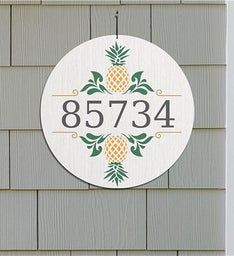 Personalized Pineapples Address Wall Sign