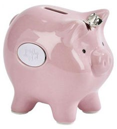 Personalized Pink Ceramic Pig