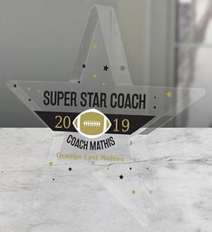 Personalized Super Star Coach Acrylic Keepsake