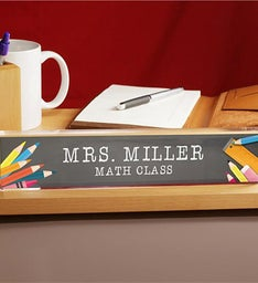 Personalized School Tools Name Plate