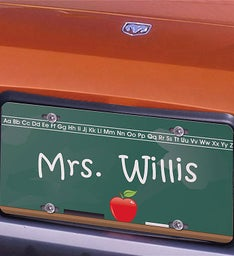 Personalized Chalkboard Teacher License Plate