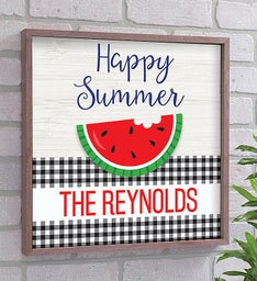 Personalized Happy Summer Pallet Sign