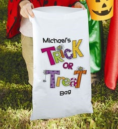 Personalized Trick or Treat Halloween Sack