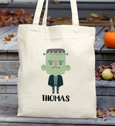 Personalized Halloween Frankenstein Tote Bag