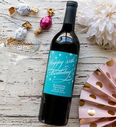 Personalized Classic Birthday Labeled Wine