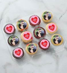 12-24 Mini Personalized Valentines Day Cupcakes