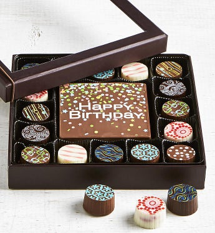 Simply Chocolate Birthday Bar & Truffles