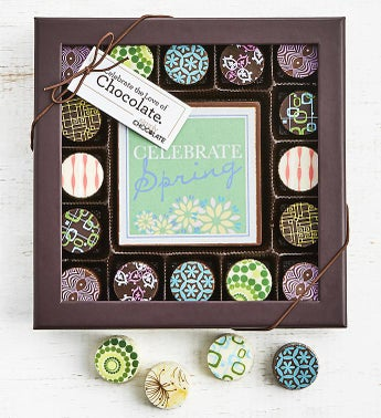 Simply Chocolate Spring Bar  Truffles 17pc