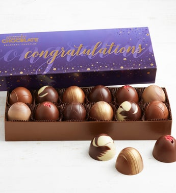 Simply Chocolate Congrats Colossal Truffles  12pc