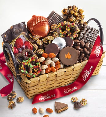 Simply Chocolate Deluxe Autumn Sweets Basket