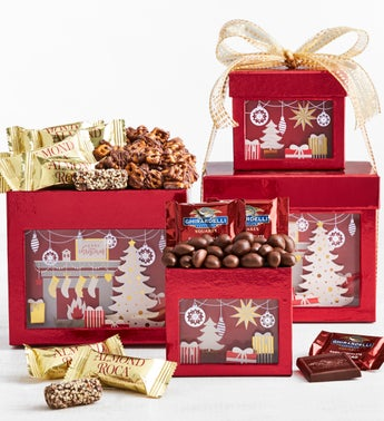 Winter Wonder Chocolates  Sweets Tower