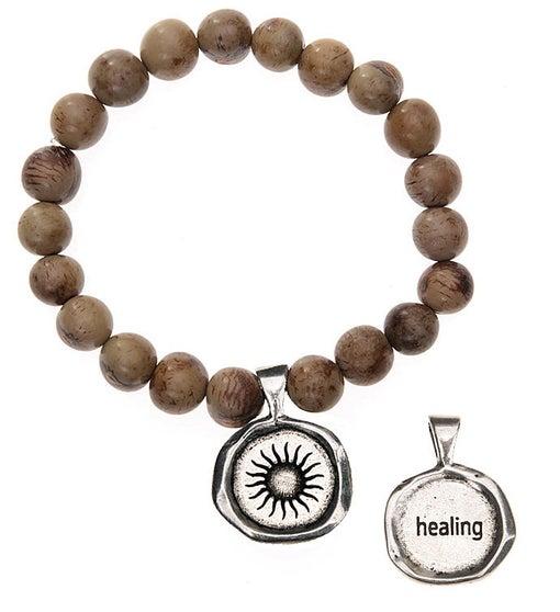 Seeds Of Life Wax Seal Bracelet - Healing
