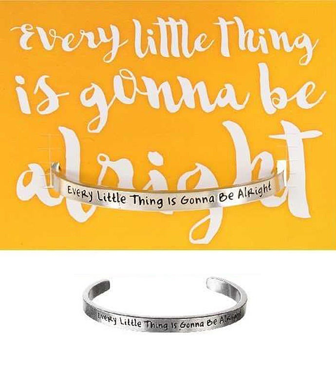 Every Little Thing Quotable Cuff Bracelet
