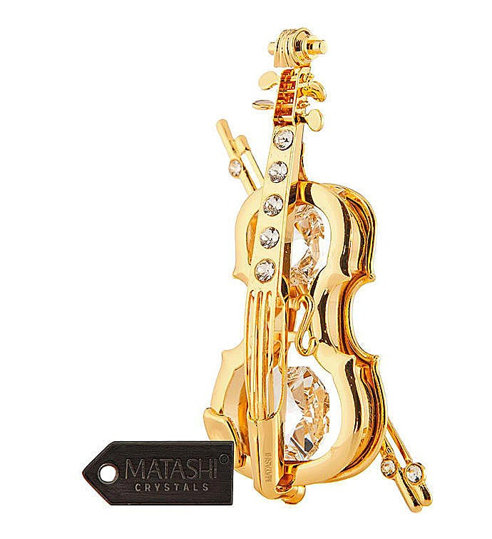 Gold Plated Violin Ornament
