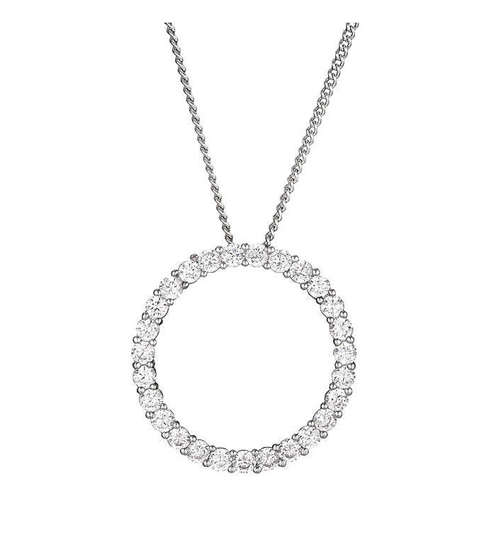 Open Circle Pendant Necklace