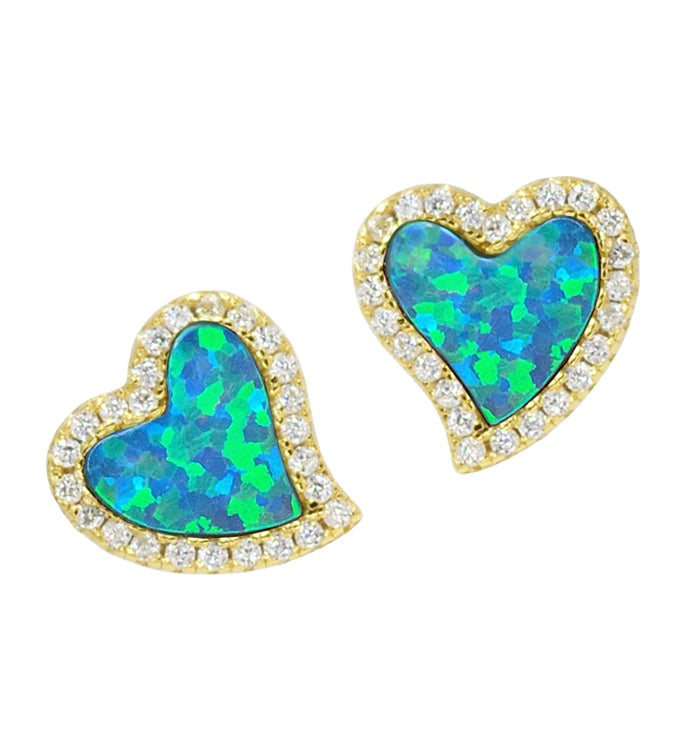 Amore - Heart Studs
