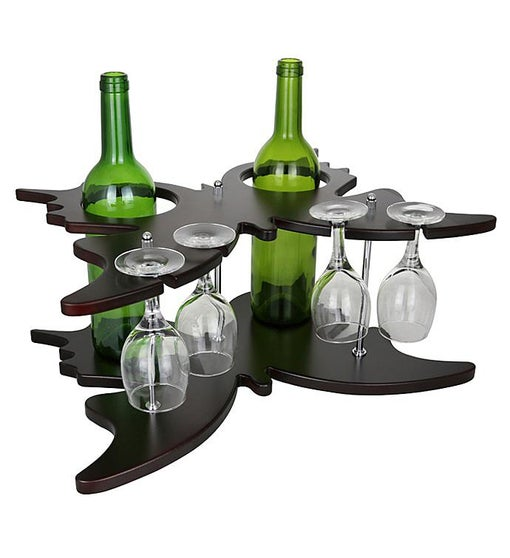 Butterfly Wine Bottle & Glass Holder