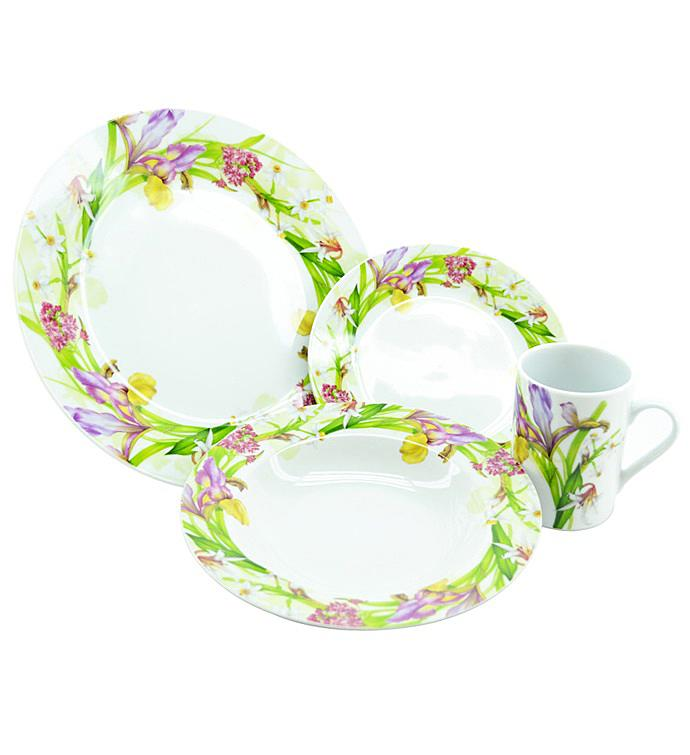 Purple Iris Dinner Set
