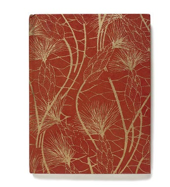 "Recycled Cotton Journal in Red and Gold Beach Grass-6""x8""- Set of Two"