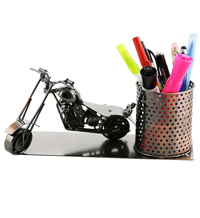 Motorcycle Pen Holder