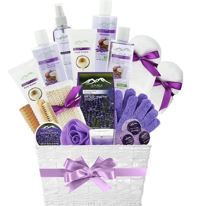 Purelis Grapeseed Oil  Lavender Spa Basket