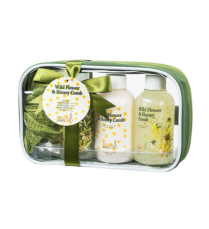 Wild Flower  Honeycomb Fragrance Travel Spa Set