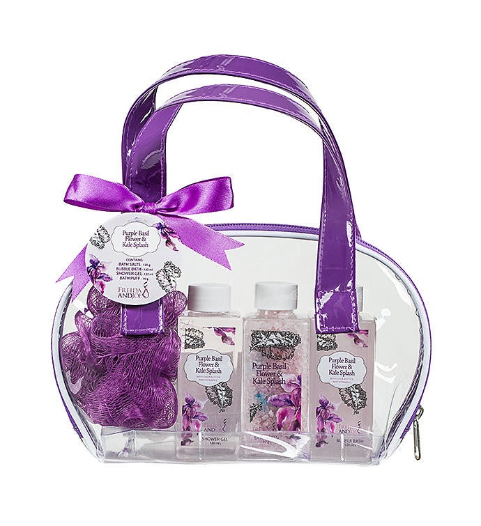 Purple Basil Flower  Kale Splash Easy Carry Spa