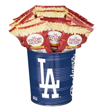 Los Angeles Dodgers 3-Flavor Popcorn Tins