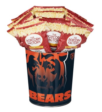 Chicago Bears 3-Flavor Popcorn Tins