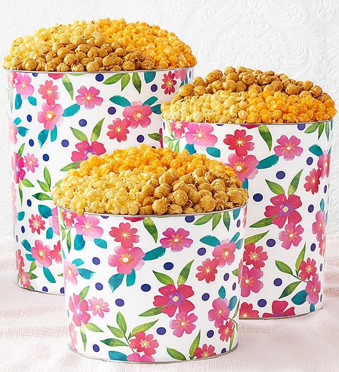 Floral Delight Popcorn Tins