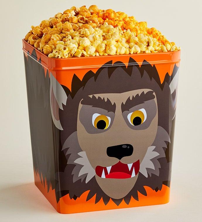NEW! Monster Mash Werewolf 3 1/2 Gallon 3 Flavor Popcorn Tin