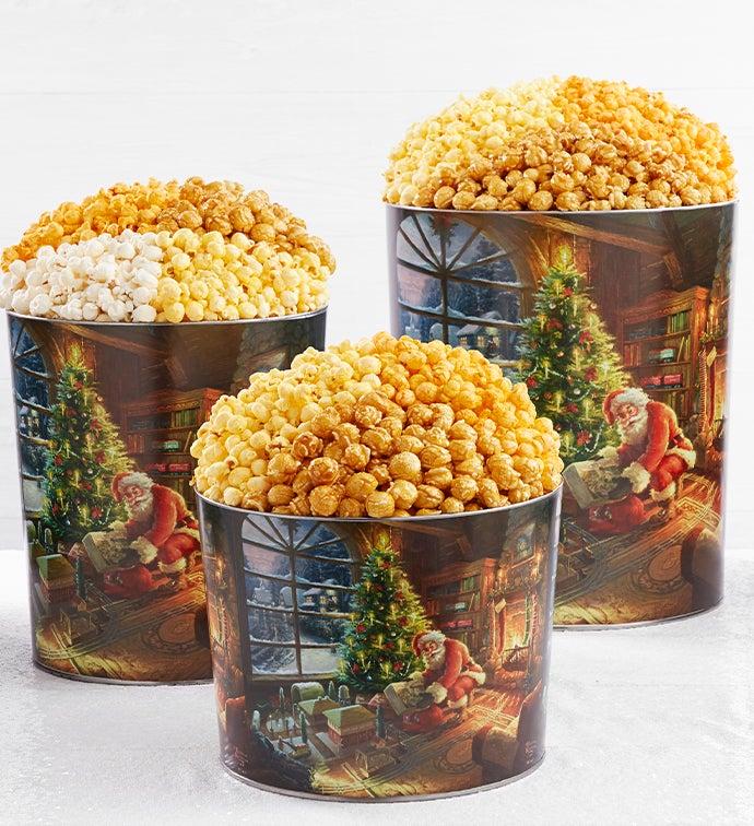 Thomas Kinkade® With Santa Popcorn Tins