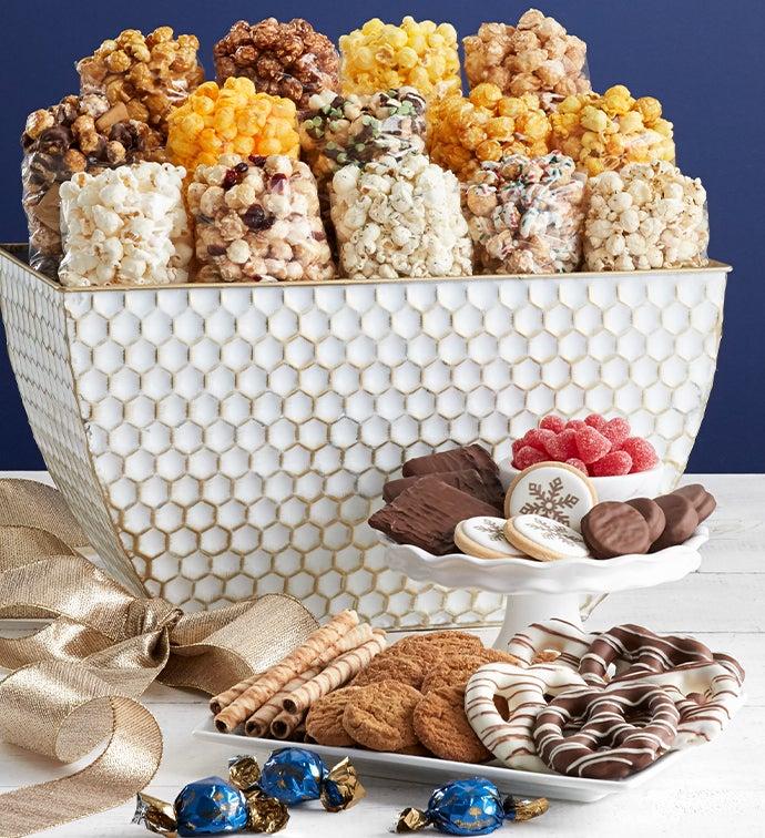 Let It Snow Popcorn Basket