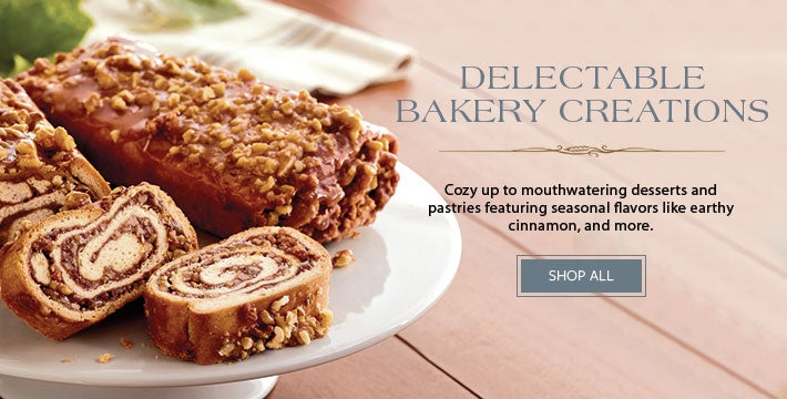 DELECTABLE BAKERY CREATIONS Cozy up to mouthwatering desserts and pastries featuring seasonal flavors like earthy cinnamon, velvety pumpkin, and more. SHOP NOW