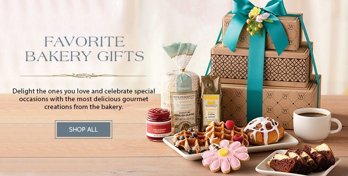 FAVORITE BAKERY GIFTS Delight the ones you love and celebrate special occasions with the most delicious gourmet creations from the bakery. SHOP NOW