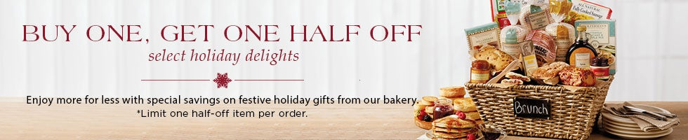 BUY ONE GET ONE HALF OFF on select holiday delights.