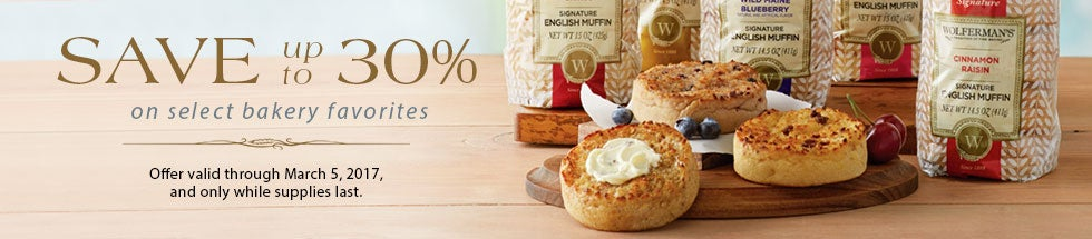 BAKERY SALE. Select items up to 30% off.