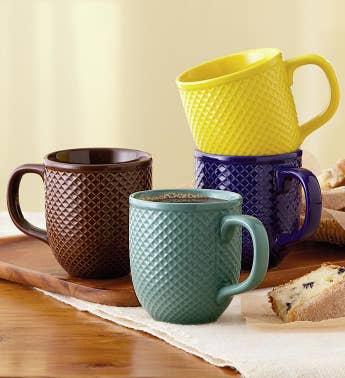 Diamond Textured Mug Set Snipeimage