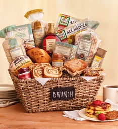 Gourmet Brunch Chalkboard Basket
