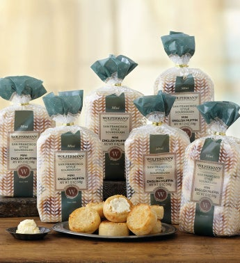 San Francisco-Style Sourdough Mini English Muffins - Six Packages