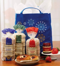 English Muffin Snowflake Tote