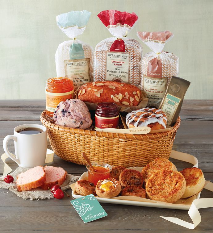Sympathy gift basket wolfermans negle Images