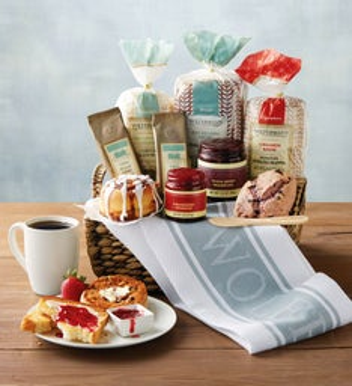 breakfast gift baskets brunch gifts totes wolferman s