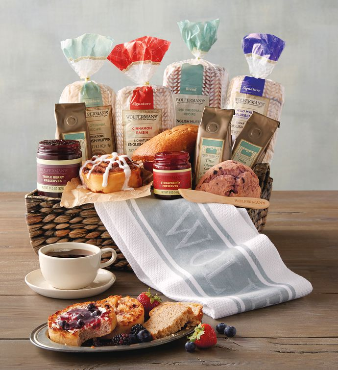 Christmas bakery gifts breakfast gift baskets wolfermans grand bakery gift basket negle Image collections