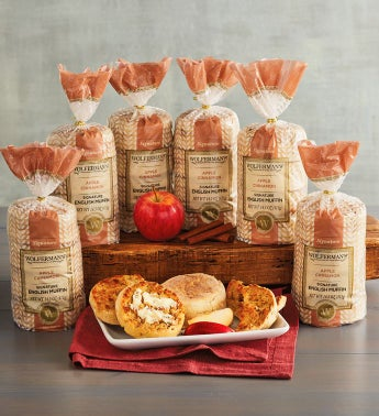 Apple Cinnamon Super-Thick English Muffins - 6 Packages