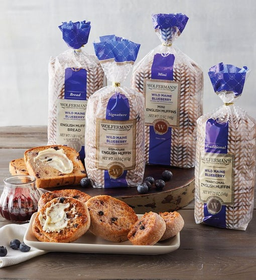 Wild Maine Blueberry English Muffin Variety Pack
