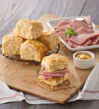 City Ham and Buttermilk Biscuits