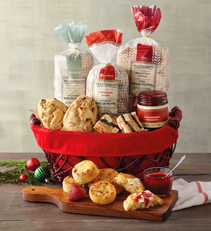 Christmas breakfast gift baskets free shipping